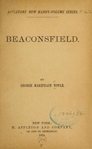 Cover of: Beaconsfield