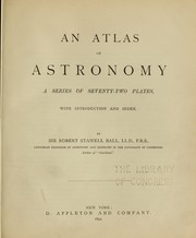 Cover of: An atlas of astronomy