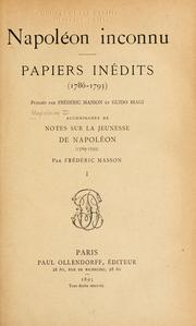 Cover of: Napoléon inconnu: papiers inédits (1786-1793)