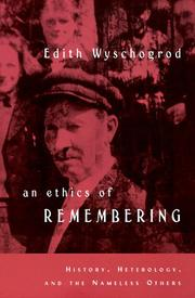 Cover of: An ethics of remembering
