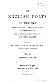 Cover of: The English poets