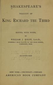 Cover of: King Richard III
