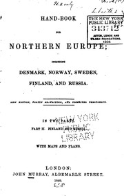 Cover of: Handbook for Northern Europe