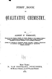 Cover of: First book in qualitative chemistry