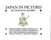 Cover of: Japan in pictures