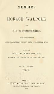 Cover of: Memoirs of Horace Walpole and his contemporaries
