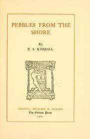 Cover of: Pebbles from the shore