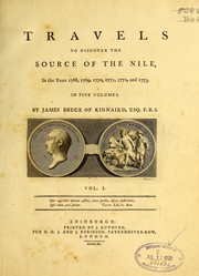 Cover of: Travels to discover the source of the Nile