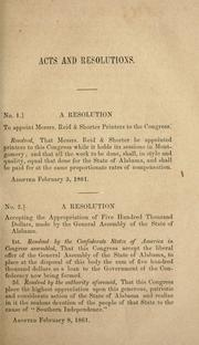 Cover of: Provisional and permanent constitutions, of the Confederate States