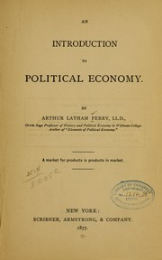 Cover of: An introduction to political economy