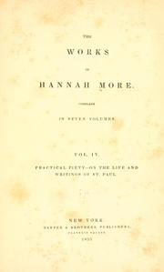 Cover of: The works of Hannah More.
