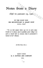 Cover of: Notes from a diary: 1896 to January 23, 1901