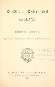 Cover of: Russia, Turkey, and England