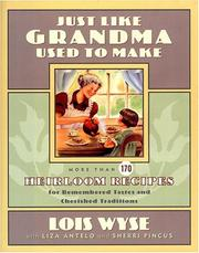 Cover of: Just like grandma used to make