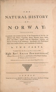 Cover of: The natural history of Norway