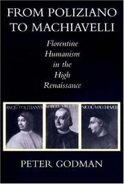 Cover of: From Poliziano to Machiavelli