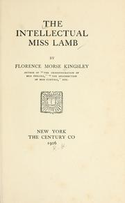 Cover of: The intellectual Miss Lamb