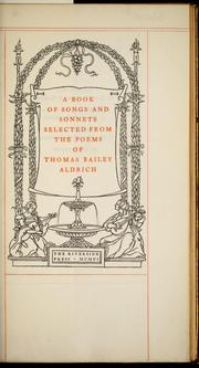 Cover of: A book of songs and sonnets