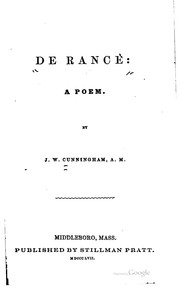 Cover of: De Rancè