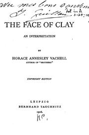 Cover of: The face of clay: an interpretation