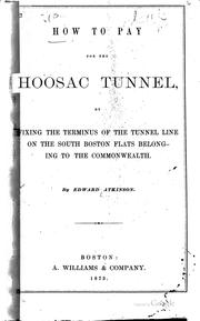 Cover of: How to pay for the Hoosac tunnel