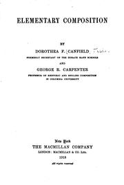 Cover of: Elementary composition