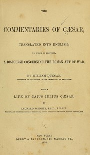 Cover of: The commentaries of Caesar