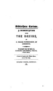 Cover of: A dissertation upon the Druids