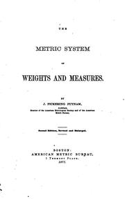 Cover of: The metric system of weights and measures