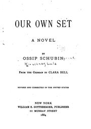 Cover of: Our own set