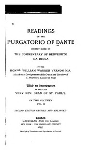 Cover of: Readings on the Purgatorio of Dante
