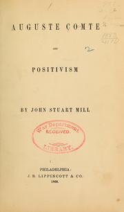 Cover of: Auguste Comte and positivism