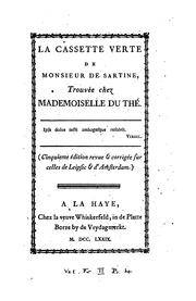 Cover of: The green box of Monsieur de Sartine, found at Mademoiselle du The's lodgings