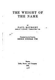 Cover of: The weight of the name