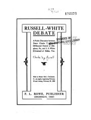 Cover of: Russell-White debate