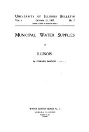 Cover of: Municipal water supplies of Illinois