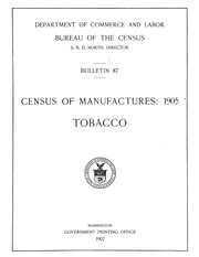Cover of: Census of manufactures: 1905