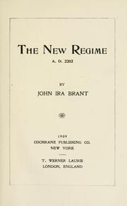 Cover of: The new regime