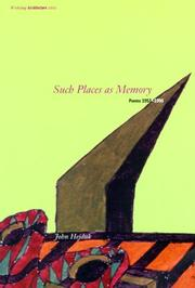Cover of: Such places as memory