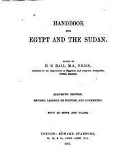Cover of: Handbook for Egypt and the Sudan