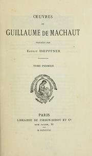 Cover of: Œuvres de Guillaume de Machaut