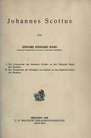 Cover of: Johannes Scottus