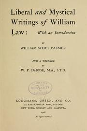 Cover of: Liberal and mystical writings of William Law