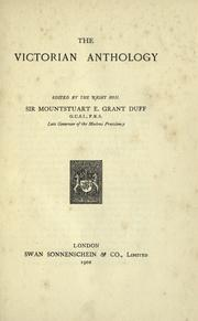 Cover of: The Victorian anthology