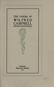 Cover of: The poems of Wilfred Campbell