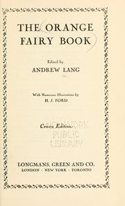 Cover of: The Orange Fairy Book