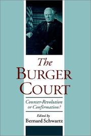 Cover of: The Burger Court