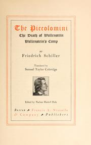 Cover of: The Piccolomini