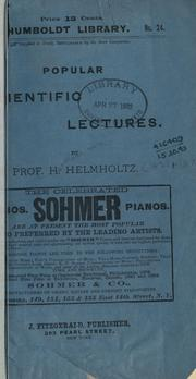 Cover of: Popular scientific lectures
