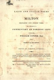 Cover of: Latin and Italian poems of Milton